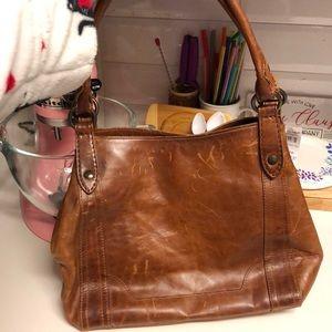 Brown leather Frye bag